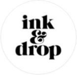 ink and drop logo circle