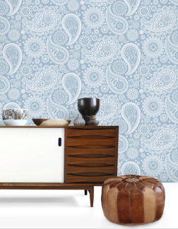 Mini Moderns Wallpaper_Blue