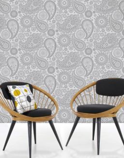 Mini Moderns Wallpaper_Grey