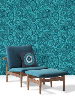 Mini Moderns Wallpaper_Teal